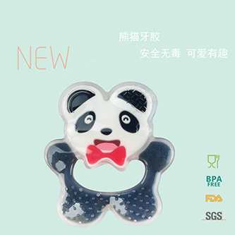 Panda shape silicone teether